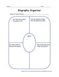 biography graphic organizer worksheets free best photos of biography graphic organizer printable 2nd grade