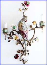 parrot home decor oiseaux parrot wall sconce candle holder right exquisite home