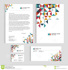 layout template size a4 cover page business card and letter low