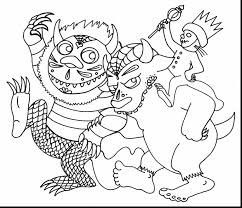 beautiful black things coloring pages with where the wild things