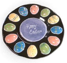 ceramic deviled egg plate easter inspired deviled egg platter all fired up