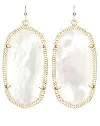 ivory pearl danielle earrings in ivory pearl kendra jewelry