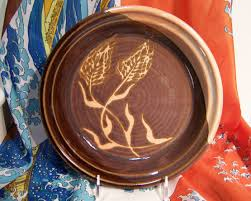 communion plates communion plate with wheat design my pottery pottery