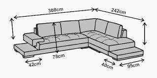 dimension d un canapé canapé d angle en cuir genova livraison offerte