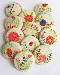 mexican embroidery floral embroidery flower sugar cookies
