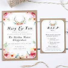 wedding invitations newcastle watercolour wilderness wedding invitation