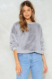 fur sweater total softy faux fur sweater shop clothes at gal