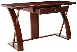 amazon com roundhill furniture solid wood computer desk cherry