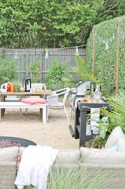 Gravel Backyard Ideas Hamptons Inspired Small Backyard Reveal City Farmhouse