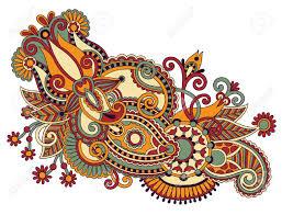 art ornate flower design ukrainian traditional style royalty free
