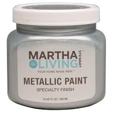 martha stewart living 10 oz polished silver metallic paint 259281