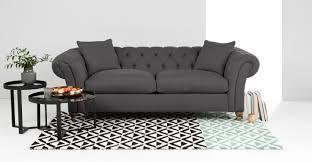 Chesterfield Sofa Price by Bardot 3 Seater Chesterfield Sofa Smoke Grey Made Com