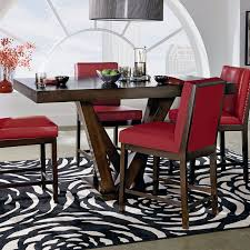 red pub table and chairs couture elegance 7 piece counter height dining set modern and tables