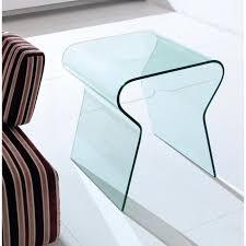bout de canapé en verre lock bout de canapé en verre transparent achat vente bout de
