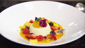 masterchef u0027s vanilla pannacotta with saffron gel food