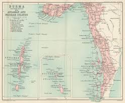 Uchicago Map File Map Of Burma Southern Section With The Andaman And Nicobar