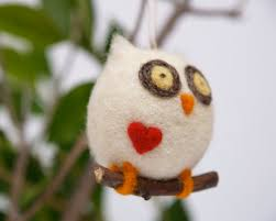 needle felted owl ornament the magic onions store