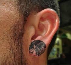 small butterfly photo ear tattoos design idea for and