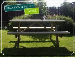garden picnic table 1 8m long pressure treated par