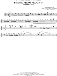 theme line yellow claw theme from rocky from rocky sheet music flute violin oboe or