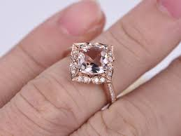 7mm diamond aliexpress buy solid 14k gold 7mm cushion cut pink