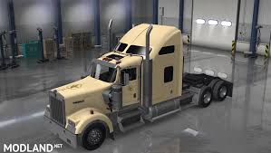 kenworth w900 engine kenworth w900 us army skin big henk v 1 2 tan color mod for