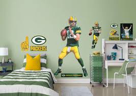 life size aaron rodgers fathead wall decal shop green bay aaron rodgers fathead wall decal