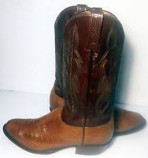 lucchese s boots size 11 lucchese mens brown burn ostrich neck boots size 10 ee retail ebay