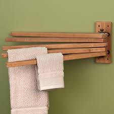 Kitchen Towel Bars Ideas How To Make A Wooden Towel Rack With Wood Bar Ideas 7