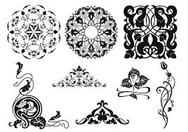 vintage ornament vector pack free vector stock