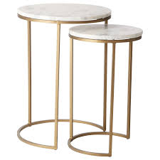 west elm round side table west elm round nesting side table marble antique brass at john lewis