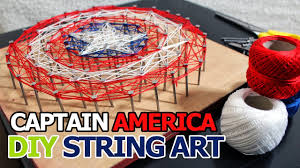 diy how to make captain america string art kids crafts ideas