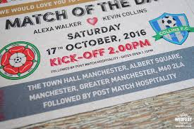 wedding invitations galway match of the day football wedding invitations wedfest