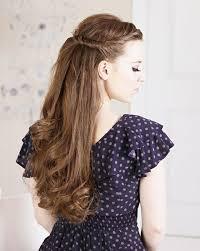 Partyfrisuren Lange Haare Offen by Die Besten 25 Halbe Hochsteckfrisuren Ideen Auf