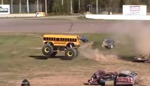 bus monster truck videos monster truck racing gifs find make share gfycat gifs