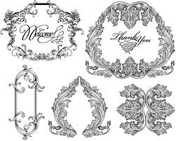 ornaments lace and borders vector graphic free vector in