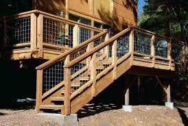 Deck Stairs Design Ideas Deck Stairs Design Ideas Wooden Deck With Wire Balusters Deck