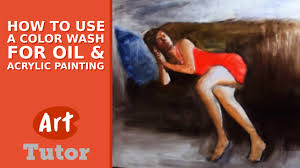 how to use a color wash for oil u0026 acrylic painting youtube