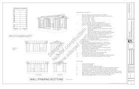12 x 20 x 8 workshop shed garage plans blueprints construction 12 x 20 x 8 shed plans