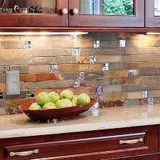 kitchen backsplash ideas for cabinets 103 slate backsplash ideas rustic look 1 trend slate tile