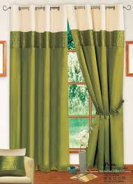 Danielle Eyelet Curtains by Stylish Tone Ring Top Eyelet Lined Curtains Faux Silk Lime Green