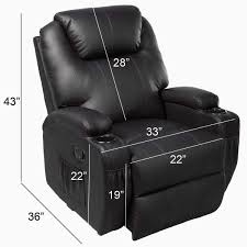 Sofa Control Amazon Com Ghp Black Sturdy Ergonomic Seating Massage Recliner