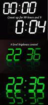 ivation clock large font remote control led digital wall clock modern design for
