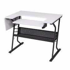 sewing machine craft table folding computer desk storage shelves