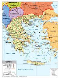 greece map political political map of greece by bestcountryreports