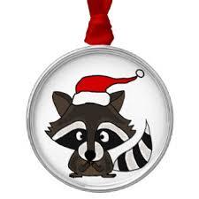 santa raccoon ornaments keepsake ornaments zazzle