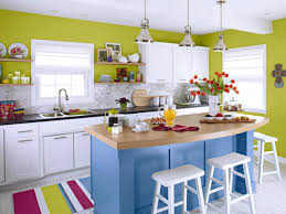 blue kitchen decorating ideas creative bright kitchen design with blue kitchen island and