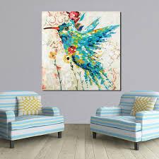 Living Room Paintings Online Get Cheap Bird Flower Oil Painting Aliexpress Com