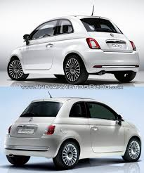2016 fiat 500 facelift vs 2007 fiat 500 rear three quarter old