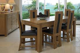 Glass And Oak Dining Table Set Dining Table And Six Chairs Inspiration Decor Tables Unique